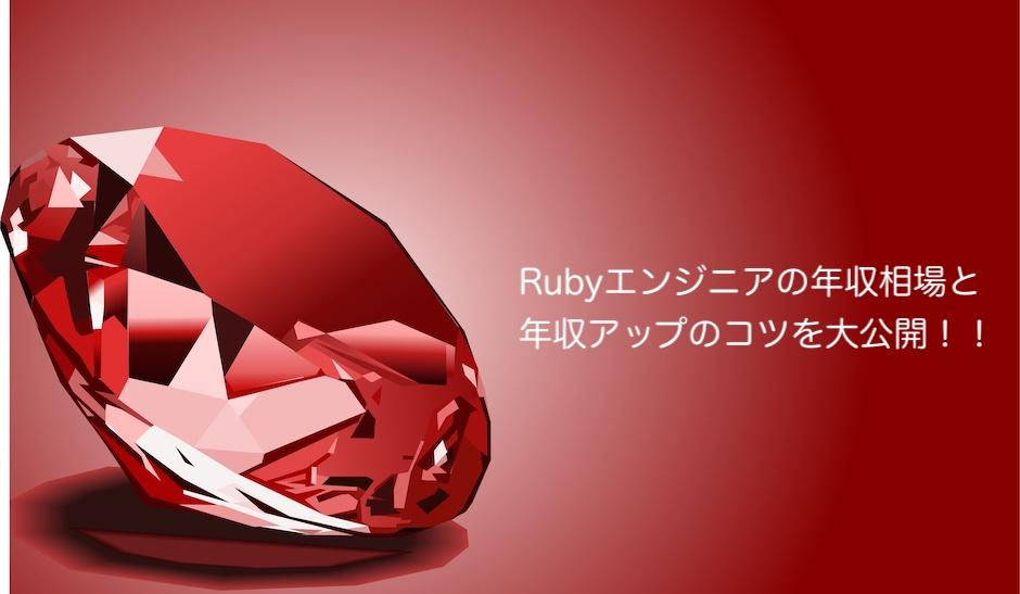 Rubyエンジニアの年収相場と年収アップのコツを大公開